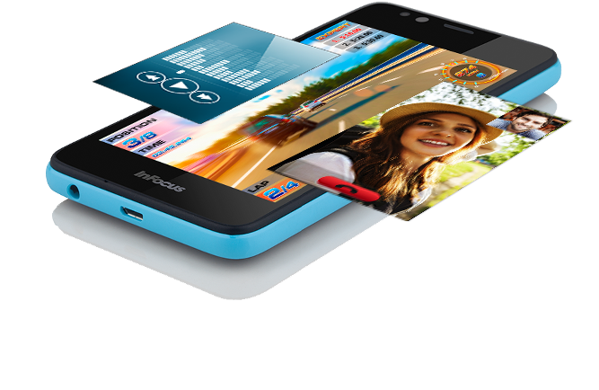 InFocus Bingo 21 Mobile Phone with 1.5GHz Quad Core Processor, 2GB RAM, 4G connectivity and 2300 mAh battery