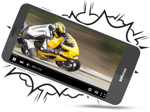InFocus M370 Smartphone comes with 1GB/8GB 2GB/16GB expand it up to 64GB