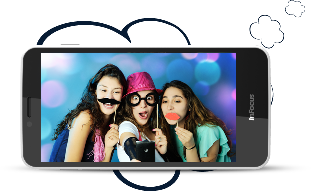 InFocus M370 delight you with advanced 2 MP front camera